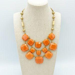 "Stella & Dot ""Olivia"" Orange Bib Autumn Necklace"